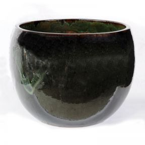 FP Collection Glazed Bowl Pot Green