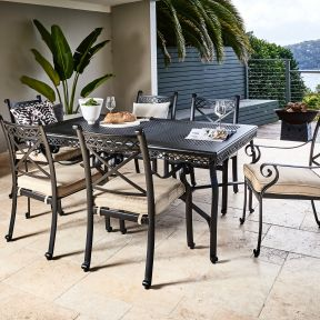 FP Collection Carmel Outdoor Dining Setting