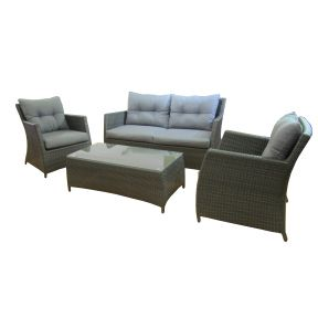 FP Collection Dexter Outdoor 4 Seater Lounge Setting
