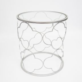 FP Collection Indoor Scroll Side Table