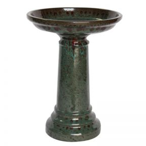 FP Collection Glazed Bird Bath  ] 166654P - Flower Power