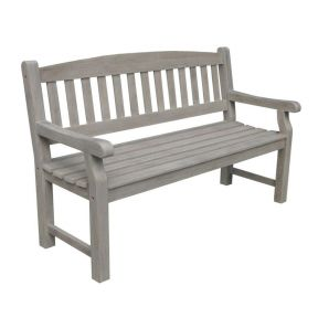 FP Collection Hunter Outdoor 3 Seater Grey Bench
