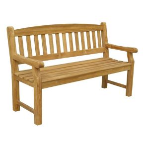 FP Collection Hunter Outdoor 3 Seater Natural Bench