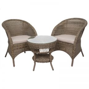FP Collection Brunswick Outdoor 2 Seater Balcony Setting