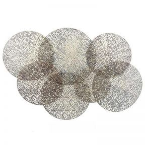 FP Collection Circles Metal Wall Art