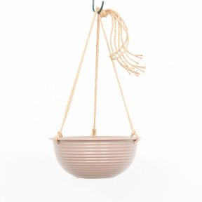 FP Collection Hanging Ribbed Planter