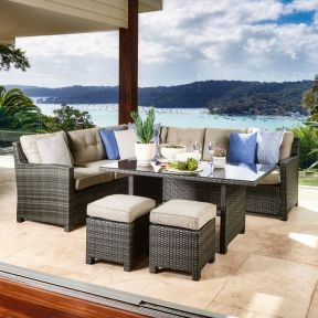 FP Collection Newport Outdoor Lounge/Dining Setting