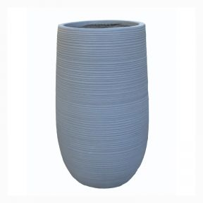 FP Collection Madrid Tall Round Pot Grey