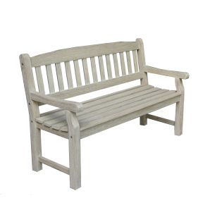 FP Collection Hunter Outdoor 3 Seater White Bench