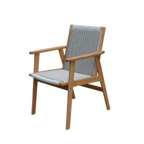 FP Collection Leura Outdoor Dining Wicker Chair