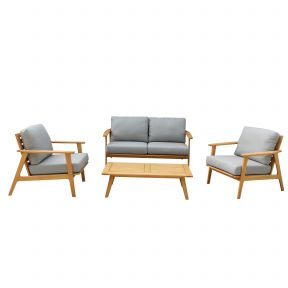 FP Collection Leura Outdoor Lounge Timber Setting