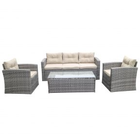 FP Collection Austin Outdoor 4 Seater Lounge Setting