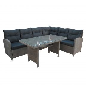 FP Collection Portland Outdoor Lounge/Dining Setting