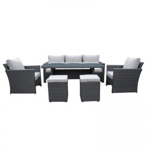 FP Collection Portico Outdoor Lounge/Dining Setting