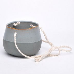 FP Collection Cleo Hanging Planter Grey