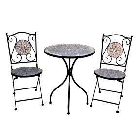 FP Collection Eden Outdoor 2 Seater Balcony Setting Sand