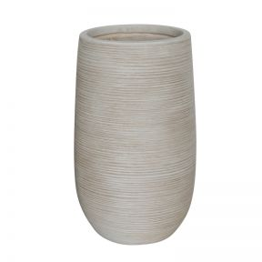 FP Collection Madrid Tall Round Pot Snow