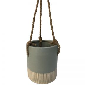 FP Collection Bora Bora Hanging Pot Grey