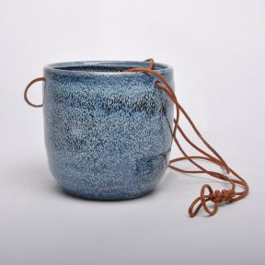 FP Collection Bondi Hanging Pot Blue
