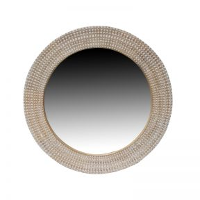 FP Collection Priya Carved Round Mirror