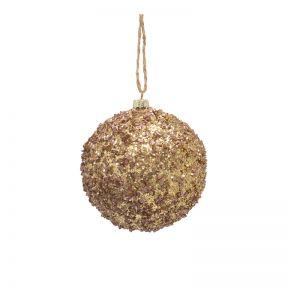 FP Collection Christmas Hanging Bauble Metallic Multi