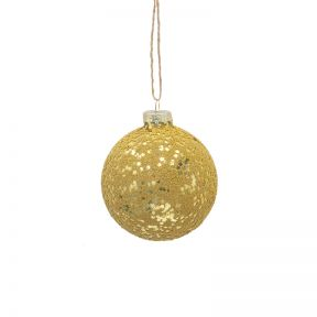 FP Collection Christmas Hanging Bauble Glomesh Gold
