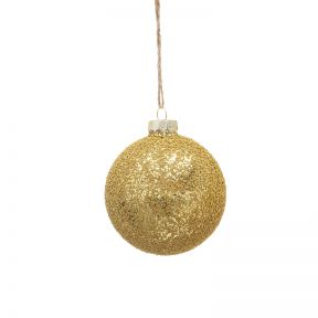 FP Collection Christmas Hanging Bauble Metallic Gold