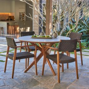 FP COLLECTION MARINER OUTDOOR 4 SEATER DINING SETTING