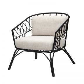 FP Collection Flynn Occasional Chair Black