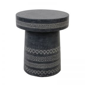 FP Collection Marbella Stool Charcoal