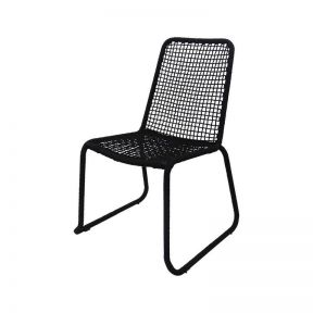 FP COLLECTION ARUBA OUTDOOR DINING CHAIR BLACK