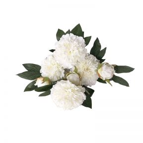 FP Collection Artificial Peony Bouquet White
