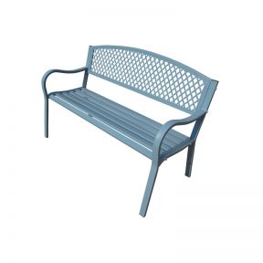 FP Collection Maui Outdoor 2 Seater Bench Grey