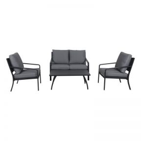 FP Collection Byron Outdoor Lounge Setting Charcoal
