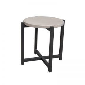 FP Collection Ramada Outdoor Side Table Charcoal