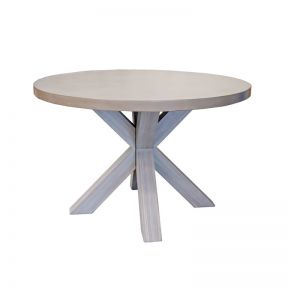 FP Collection Industry Outdoor 4 Seater Round Dining Table