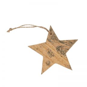 FP Collection Christmas Hanging Bauble Foil Star Gold
