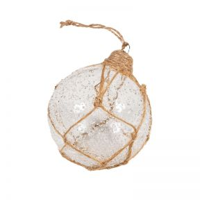 FP Collection Christmas Hanging Bauble Jute Bouy