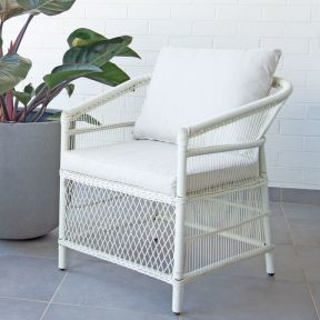 FP Collection Malawi Outdoor Dining Chair White