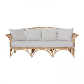 FP Collection Lanai Cane 3 Seater Lounge