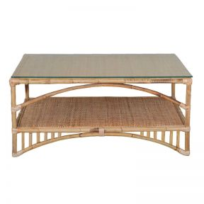 FP Collection Lanai Cane Coffee Table