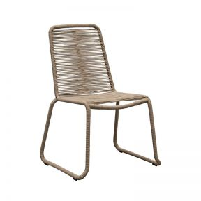 FP Collection Oahu Outdoor Dining Chair Taupe  ] 186813 - Flower Power
