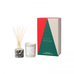 Palm Beach Christmas Mini Candle & Mini Diffuser Set - Balsam & Fir  ] 735850319094 - Flower Power