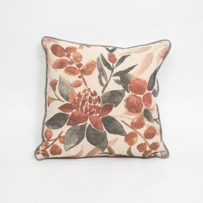 Madras Link Bouquet Rust Linen Cushion