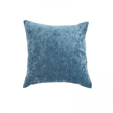 Madras Link Brooklyn Blue Chenille Cushion