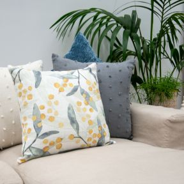 Madras Link Wattle Cushion