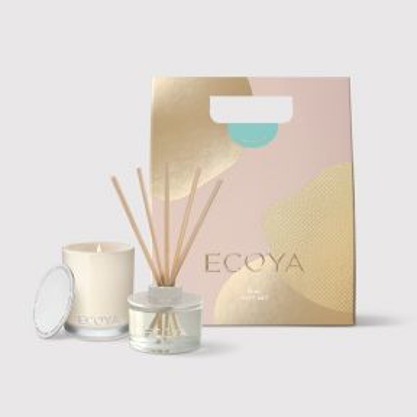 Ecoya Christmas 2019 Lotus Flower Mini Candle & Diffuser Gift Set