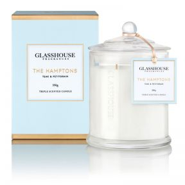 Glasshouse The Hamptons Teak & Petitgrain 350g Candle