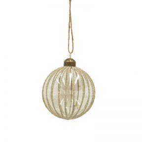 FP Collection Christmas Hanging Glass Ornament Carnival