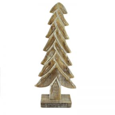 Christmas Tree Statue Mango Wood